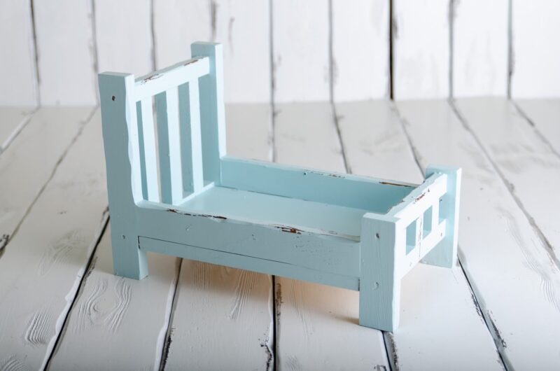 rustic bed for photo