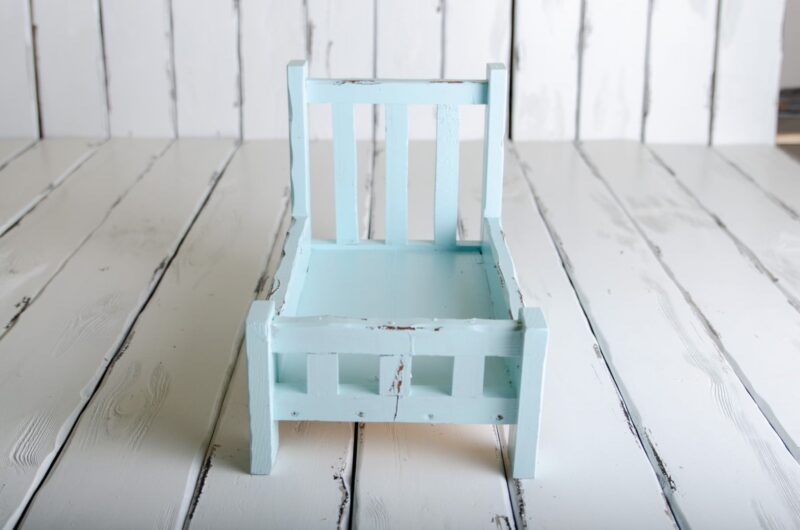 rustic bed for newborn photo