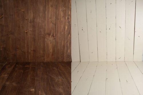 dwustronne drewniane tło fotograficzne